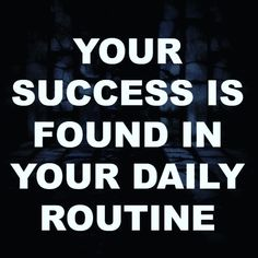 Monday Quote of The Day    Your mindset and your routine are the foundation that you build your success and empire on. When your foundation is strong nothing can break you!  Straight Up!  www.straightupmindset.blogspot.com  Like, Share and Comment!
