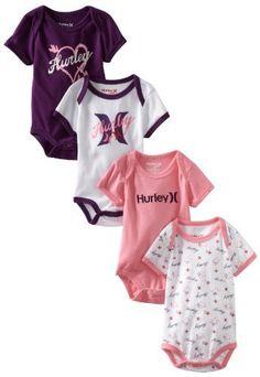 Hurley Baby-girls Newborn 4 Creepers Bodysuit, Assorted, 6-9 Months Hurley, http://www.amazon.com/dp/B007VCBRDE/ref=cm_sw_r_pi_dp_E3yeqb0PY1FCS