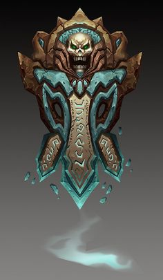 I love the detail of the stone, the glowiness, the runes, the colour pallet, and the overall design of this thing. It's also a great reference for tone!