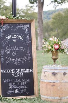 Fabulous wedding signage