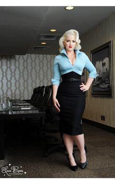 Lauren Dress in Blue and Black
