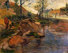 Cove opposite Pont-Aven Harbor, 1888, Paul Gauguin