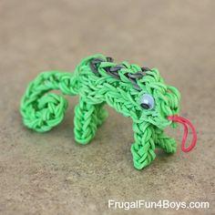 Rainbow Loom Chameleon Tutorial - Frugal Fun For Boys