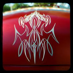 Red deck lid pinstripe