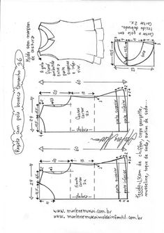 Blusa regata com gola boneca – DIY – molde, corte e costura – Marlene Mukai