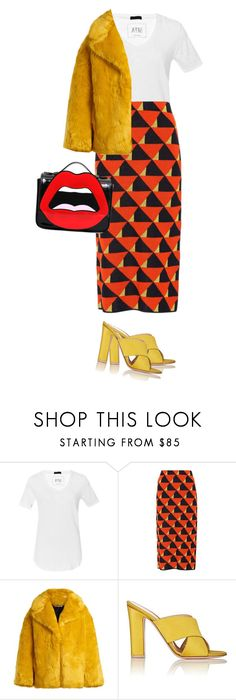 """Untitled #9983"" by cherieaustin on Polyvore featuring ATM by Anthony Thomas Melillo, Dries Van Noten, Diane Von Furstenberg, Gianvito Rossi and Yazbukey"