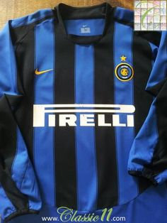 729b1d4019 Relive Inter Milan s 2003 2004 season with this original Nike home long  sleeve football shirt