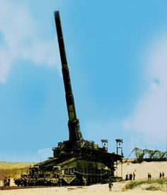 """Gustav Railway Gun ("""" Schwerer Gustav"""" or """"Dora"""" ). German 80cm ( 31,5 inch) gun, weighed nearly 1,350 tonnes, and could fire shells weighing seven tonnes to a range of 47 km ( 29 miles). The gun was designed in preparation for the Battle of France, but wasnt ready for action at that time. It was later employed in the Soviet Union at the siege of Sevastopol. It was destroyed by the Germans near the end of the war in 1945 to avoid capture by the Red Army."""