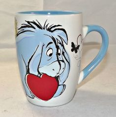 "Eeyore Mug  41/2"" H Coffee Cup EUC"