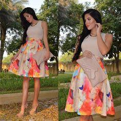 Laura Badura - H&M Skirt, New Look Top, Vlieger And Vandam Clutch, Ysl Heels - Rainbow