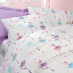 Ballerina pillowcases. Don't have our size sheets. :(
