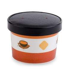 Choice 12 oz. Paper Soup Cup / Hot Food Cup with Vented Paper Lid - 250 / Case