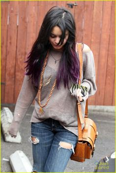 vanessa hudgens love the 'dip dye' hair this is exactly how i want mine for new years eve