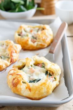 ham cheese and spinach breakfast pies