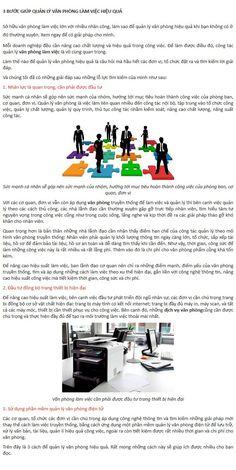 3 BƯỚC GIÚP QUẢN LÝ VĂN PHÒNG LÀM VIỆC HIỆU QUẢ  Sở hữu văn phòng làm việc lớn với nhiều nhân công, làm sao để quản lý văn phòng hiệu quả khi bạn không có ở đó thường xuyên. Xem ngay để có giải pháp cho mình.