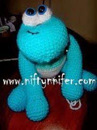 Blue Baby Monster - Free Crochet Pattern