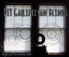DIY Gallifrean blinds