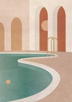 Charlotte Taylor - these colors! - Charlotte Taylor – these colors! Perspective Architecture, Blog Architecture, Texture Architecture, Collage Architecture, Architecture Design Concept, Illustration Simple, Illustration Design Graphique, Digital Illustration, Graphic Illustration