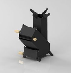 de admisión de aire de combustión secundaria Wood Gas Stove, Wood Stoves, Rocket Mass Heater, Stove Oven, Rocket Stoves, Camping Stove, Yard Art, Innovation Design, Industrial Style