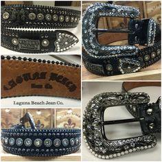 New Laguna Beach Jean Co. Swarovski Crystal Belt! For inquiries: info@lbjcdenim.com #rocktheoclifestyle