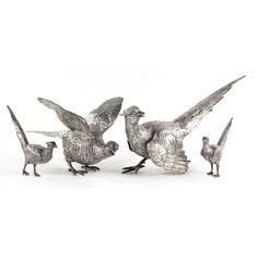 4 Silver Pheasant table ornaments Leland Little Silver Highlights, January 2018, Needful Things, Pheasant, Auction, Decorating Ideas, Ornaments, Sterling Silver, Tableware