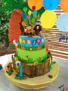 me encantó.. diseñar y elaborar este pastel.. Up!!! Una aventura de altura