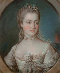 Portait d'Anne Charlotte de Lévis Châteaumorand, marquise de Clermont Montoison, vers 1760 entourage de Marianne Loir