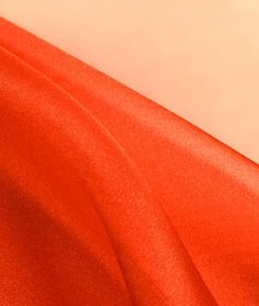 Orange Crystal Organza Fabric