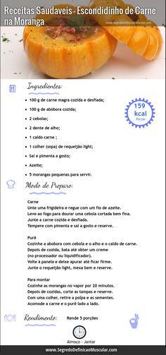 Receitas Saudaveis – Escondidinho de Carne na Moranga  ➡ http://www.segredodefinicaomuscular.com/receitas-saudaveis-escondidinho-de-carne-na-moranga #dieta #receita #diet #recipe