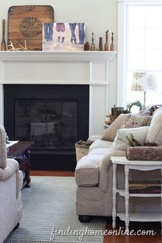 Simple Mantel Decorating Ideas - Winter | Finding Home Online