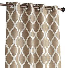 Woven jacquard construction highlights the soft geometric pattern of this classic design. Fully lined and a breeze to hang with a grommet top, our curtain gives your room an instant and stylish update.