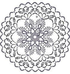 Trendy ideas for crochet blanket flower ganchillo Crochet Doily Patterns, Crochet Diagram, Crochet Chart, Crochet Designs, Crochet Doilies, Crochet Flowers, Crochet Stitches, Crochet Home, Knit Crochet