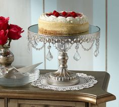 Chandelier cake stand. I think I need one of these :) Or something similar at least.