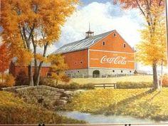 Set of 4 Vintage Coca Cola Coke TV Trays Covered Bridge Barn | eBay