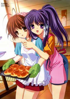 Nagisa and Kyou _Clannad Dango Clannad, Clannad Anime, All Anime, Anime Love, Anime Manga, Anime Girls, Anime Stuff, Clannad After Story, Anime School Girl