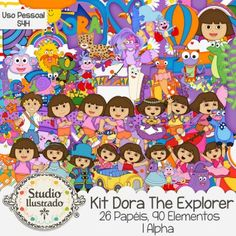 Kit Dora The Explorer, Kit Dora Aventureira, Adventure, Botas, Botas Vermelhas, Red Boots, Macaco, Monkey, Aventura, Mochila, Mapa, Vaca, Blue, Raposo, Map, Trio Party, Fiesta Trio, Backpack, Swiper, Iguana, Isa, Tico, Benny, Diego, Kit Digital, Digital Kit, Elementos, Papéis, Alpha, Elements, Papers, Papéis