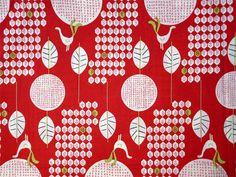 2950 - Bird & Tree Cotton Fabric - 53 Inch (Width) x 1/2 Yard (Length). $5,50, via Etsy.