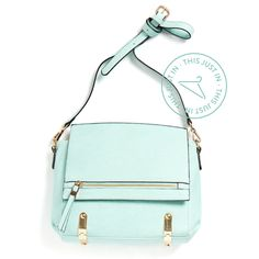 We're partial to mint at Stitch Fix, but isn't this structured bag stunning? It's so rare to find a brightly colored satchel within budget. (Skyline Crossbody Bag)