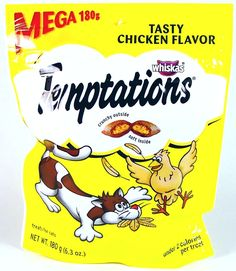 Whiskas Temptations Treats for Cats Mega BAG Tasty Chicken, (6.3 Oz Ea.) - Pack of 3 -- Click image for more details.