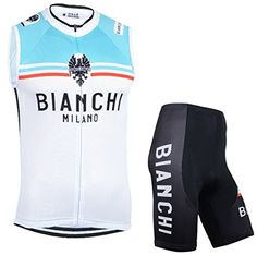 Boys' Cycling Jerseys - WissaThsn Mens Road Cycling Team Sleeveless Cycling Jersey and Cycling Shorts Set White >>> Visit the image link more details.