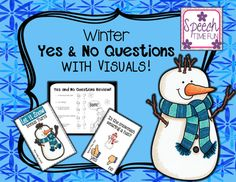 """Have fun working on answering yes and no questions with this fun, winter themed card game.  Each card has a visual to help students understand how they need to respond.What do you need to do?-print, laminate (or put on card stock), and play!-make a pile of the cards-students can take turns picking a card and responding appropriately using the visual aids provided ON THE CARD ITSELF!-""""bonus turn"""" cards are provided to help make the game more interactive and fun-the student with the most…"""