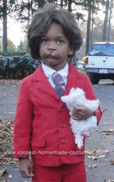 Homemade 3 Year Old as Ron Burgundy Anchorman Costume: This is my 3 Year Old as Ron Burgundy Anchorman Costume for Halloween. I dressed up as Veronica Cornerstone. Even if you never saw the movie seeing my