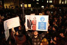 Miles de británicos protestan contra la visita de Trump a Reino Unido - http://www.notimundo.com.mx/mundo/protestan-la-visita-trump-reino-unido/