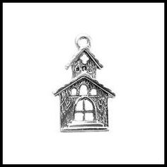 Church Charm by CakePullsByDahlia on Etsy (Craft Supplies & Tools, Jewelry & Beading Supplies, Findings & Hardware, pewter charms, charms, wedding charms, cake pulls, crafting charms, wedding shower, wedding gift, wedding night, just married, church, pendant, metal charm)