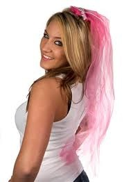 Pink Bridal veil for Stagette Real Bodies, Pink Parties, Becca, Veil, Party Time, Nice Dresses, Victoria, Long Hair Styles, Bridal