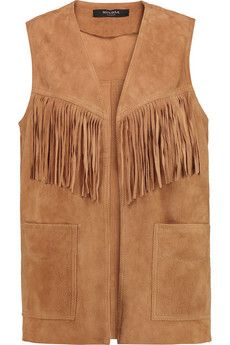 Muubaa Fringed suede vest | THE OUTNET