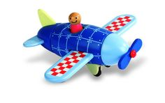 A bright and colourful wooden toy made from six separate pieces which are held together with hidden magnets.