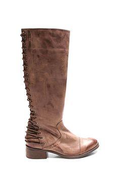5e754e9c0 Two Lips Brown Lockdown Leather Boot Mauve