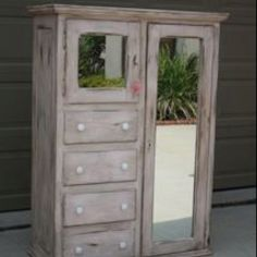 Custom painted Pink Distressed Chifferobe by Decor Rouge