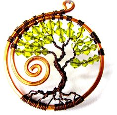 RESERVED  Swarovski Tree of Life Copper and Dark by CarrieEastwood,